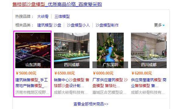 济南网站优化:售楼部沙盘模型
